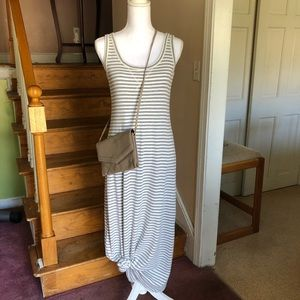 Loft Striped Scoop Neck Maxi Dress